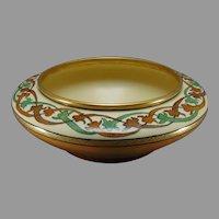 "Willets Belleek (American) ""Historic Ornament"" Design Bowl (Signed ""G. Sykes""/c.1903-1930) - Keramic Studio Design"