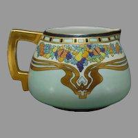 Count Thun (TK) Czechoslovakia Enameled Fruit Design Cider/Lemonade Pitcher (c.1918-1936)