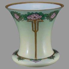 "Hutschenreuther Favorite Bavaria Floral Design Vase (Signed ""LLC""/c.1910-1930) - Keramic Studio Design"