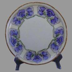 "Rosenthal Bavaria Sweet Pea Design Plate (Signed ""B. Horn""/c.1911-1930) - Keramic Studio Design"