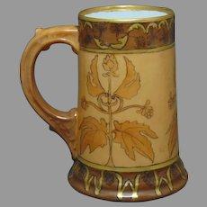 "WG&Co. Limoges Hops Design Tankard/Mug (Signed ""M.S.U.""/c.1900-1930) - Keramic Studio Design"