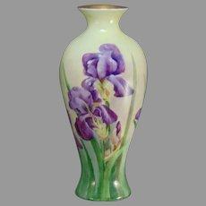 """RS Tillowitz Silesia Iris Design Vase (Signed """"B.M. Brey""""/Dated 1931)"""