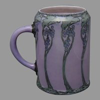 Willets Belleek (American) Grape Design Tankard/Mug (Signed/c.1913-1930) - Keramic Studio Design