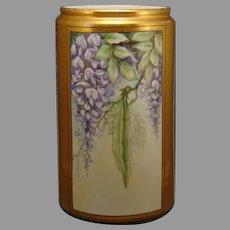 B&Co. Limoges Wisteria Design Vase (c.1900-1920)