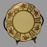 """T&V Limoges Nasturtium Design Serving Plate (Signed """"H.M.R.""""/Dated 1903) - Keramic Studio Design"""