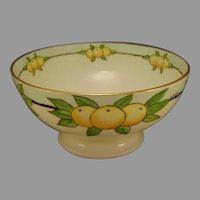 """T&V Limoges Citrus Design Bowl (Signed """"S. Riddle""""/c.1910-1930)"""
