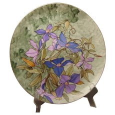 CFH Limoges Passion Flower Design Plate/Charger (c.1868-1900)