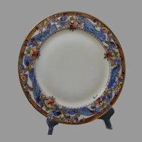 """Haviland Limoges Peacock & Fruit Design Plate (Signed """"M.C. Allen""""/c.1909-1931) - Keramic Studio Design"""