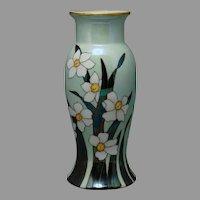 German Porcelain Jonquil Design Vase (Signed/c.1910-1930)