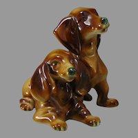Zsolnay Hungary Dachshund Puppies Figurine (c.1920-1940)