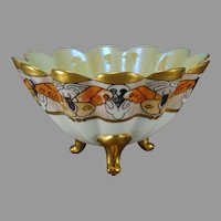 O&EG Austria Butterfly & Lustre Design Bowl (c.1903-1920) - Keramic Studio Design