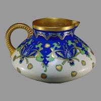 "JP Limoges ""Historic Ornament"" Design Pitcher (Signed ""Hornor""/c.1902-1920) - Keramic Studio Design"