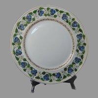 PL Limoges Blueberry Design Plate (Signed/Dated 1908) - Keramic Studio Design