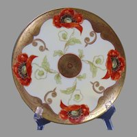"Pickard Studios Radiating Poppy Design Plate (Signed ""Loh""/c.1905-1910)"