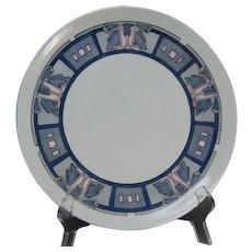 "Haviland Limoges Art Deco Leaf/""Dutchman's Breeches""  Design Plate (Signed ""C.A.""/c.1910-1930) - Keramic Studio Design"