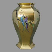 """Bernardaud & Co. (B&Co.) Limoges Bird Design Vase (Signed """"KAS""""/Dated 1928)"""