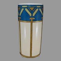 American Satsuma Geometric Design Vase (c.1910-1930)