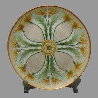 P.M. Mavaleix (PM de M) Limoges Dandelion Design Plate (c.1908-1930) - Keramic Studio Design