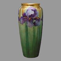 "Rosenthal Selb Bavaria Iris Design Vase (Signed ""D.A. Wade""/c.1910-1930)"