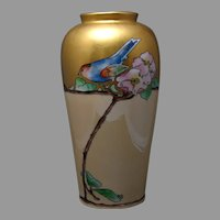 ZS&Co. Bavaria Bird & Apple Blossoms Design Vase (c.1907-1930) - Keramic Studio Design