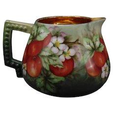 "Hutschenreuther Hohenberg Ware Bavaria Apple Design Pitcher (Signed ""Agnes C. McGeown""/c.1904-1930)"