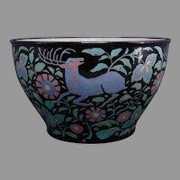 Lenox Belleek (American) Enameled Floral & Deer Design Centerpiece Bowl (c.1910-1930)
