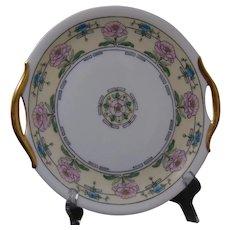 """Bavaria Floral Design Serving Plate (Signed """"Frances Godfrey""""/c.1912-1930) - Keramic Studio Design"""
