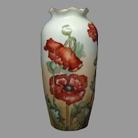 "P&L Austria Poppy Design Vase (Signed ""G. Johnson""/Dated 1912)"