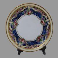 """Thomas Bavaria Peacock & Fruit Design Plate (Signed """"Gilmore""""/c.1909-1930) - Keramic Studio Design"""