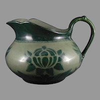 WG&Co. Limoges Monochromatic Green Floral Design Pitcher (c.1910-1930)