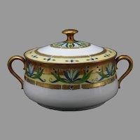 GDA Limoges Art Deco Design Biscuit Jar/Serving Dish (c. 1910-1930)