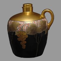 "Pickard Studios Metallic Grapes Design Whiskey Jug (Signed ""F.H.""/c.1905-1910)"