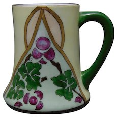 "H&Co. Bavaria Fruit Design Mug/Cup (Signed ""Estelle Evans""/c.1910-1930)"