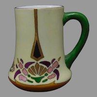 """H&Co. Bavaria Abstract Floral Design Mug/Cup (Signed """"Evans""""/c.1910-1930)"""