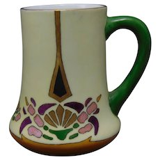 "H&Co. Bavaria Abstract Floral Design Mug/Cup (Signed ""Evans""/c.1910-1930)"