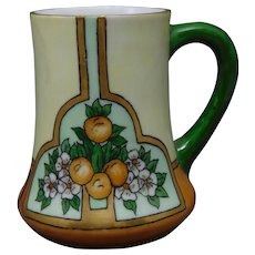 "H&Co. Bavaria Oranges & Blossoms Design Mug/Cup (Signed ""Evans""/c.1912-1930) - Keramic Studio Design"