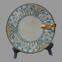 T&V Limoges Floral Design Lemon Server/Plate (c.1915-1930) - Keramic Studio Design