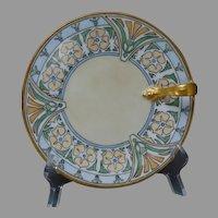 T&V Limoges Floral Design Lemon Server/Plate (c.1915-1930) - Keramic Studio Design