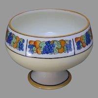 """P&P Limoges Fruit Design Pedestal Bowl/Dish (Signed """"L.F. Taylor""""/c.1910-1930)"""