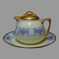 O&EG Austria Grape Design Syrup Pitcher (c.1910-1930)