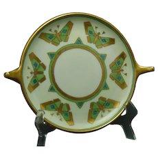 "Rosenthal Bavaria Butterfly Design Trinket/Serving Plate/Tray (Signed ""Wagner""/Dated 1912) - Keramic Studio Design"