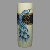 """B&Co. Limoges Peacock Design Vase (Signed """"Sisters of Notre Dame Cleveland""""/c.1916-1930)"""