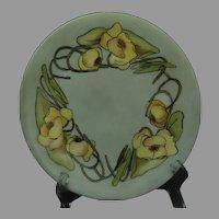 """Limoges """"Mark 6"""" Pond Lily Design Plate (Signed """"J.M.""""/Dated 1908)"""