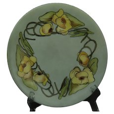"Limoges ""Mark 6"" Pond Lily Design Plate (Signed ""J.M.""/Dated 1908)"