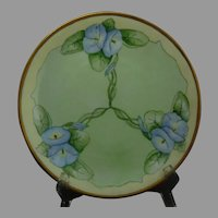 Hutschenreuther Uno Favorite Bavaria Morning Glory Design Plate (c.1910-1930)