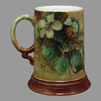 JP Limoges Hops Design Tankard/Mug (c.1900-1930)