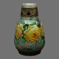 Ernst Wahliss Amphora Austria Rose Design Vase (c.1899-1915)
