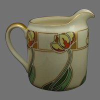 "Lenox Belleek (American) Tulip Design Pitcher (Signed ""M.B.""/Dated 1911)"