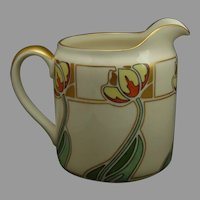 "Lenox Belleek (American) Tulip Design Pitcher (Signed ""M.B.""/Dated 1911)"