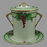 Hutschenreuther Selb Bavaria Currant Design Condensed Milk Set (c.1910-1940's)